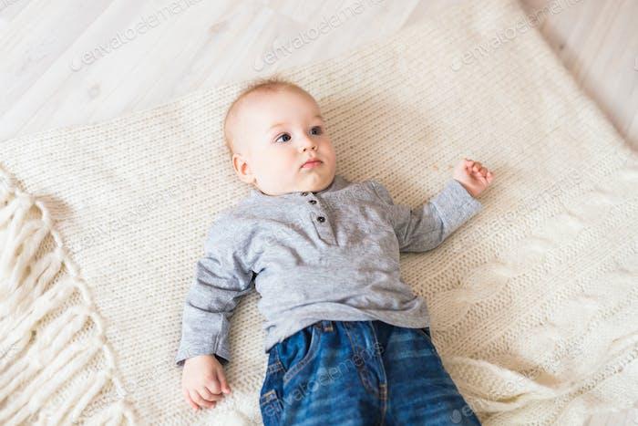 Portrait of little cute baby boy