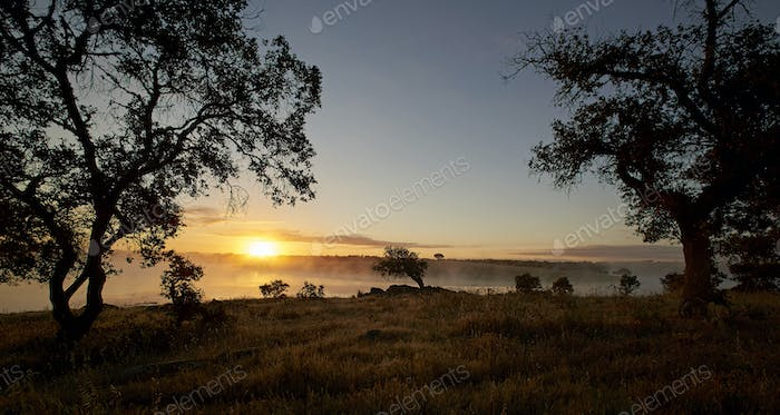 Spanish landscape at sunrise
