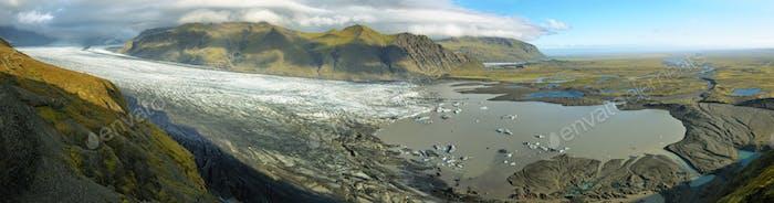 Skaftafellsjokull Gletschermoräne