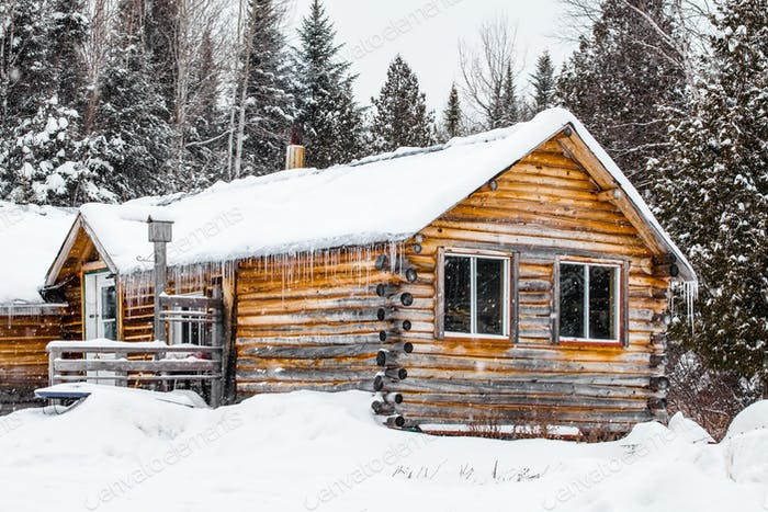 Log Wood Chalet in Quebec, Canada