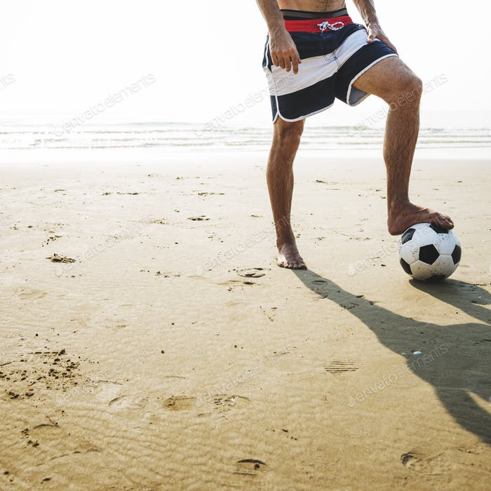 Football Ball Exercise Lifestyle Sport Summer Concept