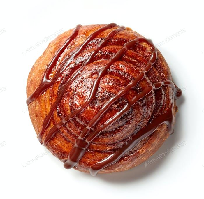 freshly baked cinnamon roll