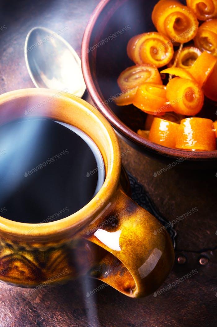 Orangenmarmelade für Tee
