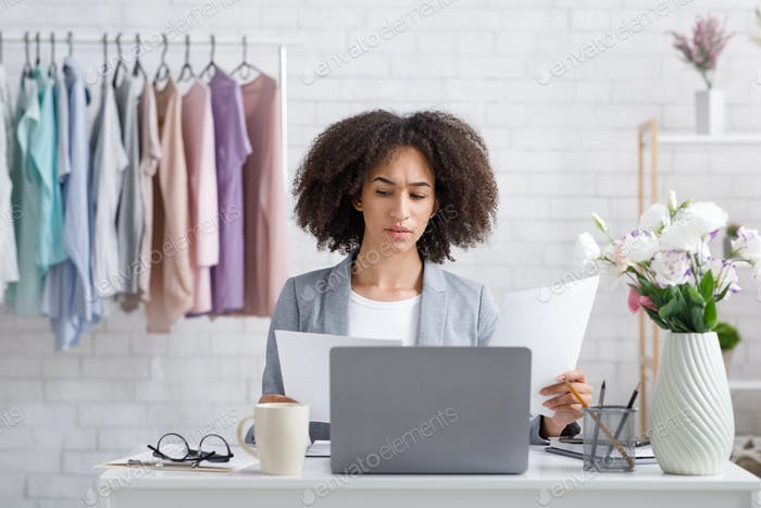 Remote work in fashion business at home during covid-19 outbreak