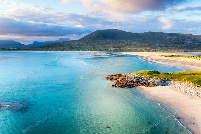 Summer evening at Seilebost on the Isle of Harris