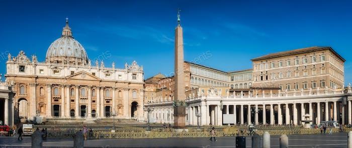 Rom, iitaly-24.März 2015: Panorama des Petersplatz in Rom