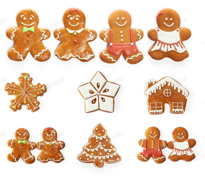 Christmas gingerbread cookie set