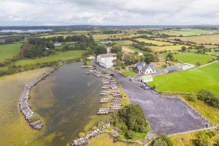 Aerial View of Greenfield in Ireland