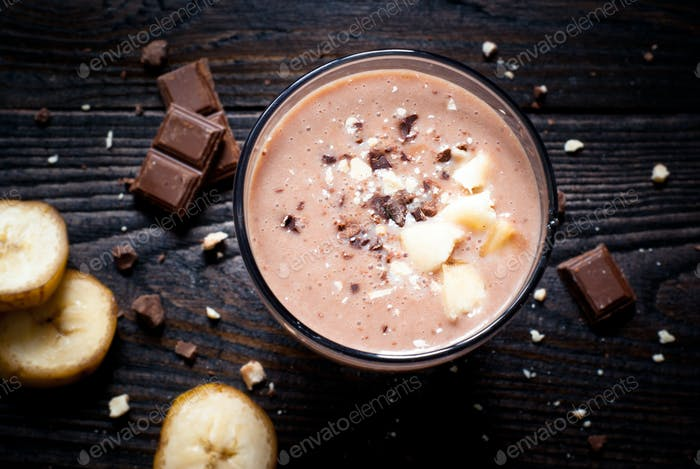 Milkshake with Banana and chocolate