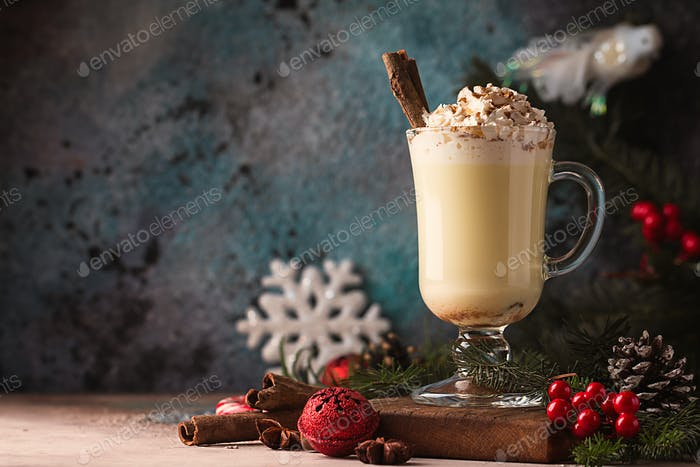Traditional winter eggnog