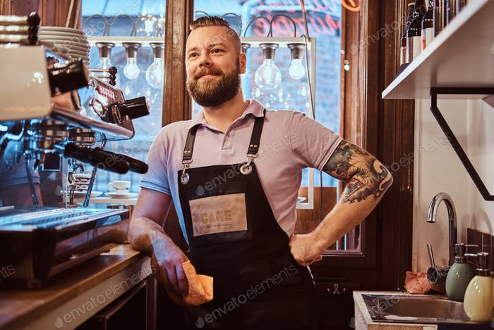 Barista working in a coffee shop