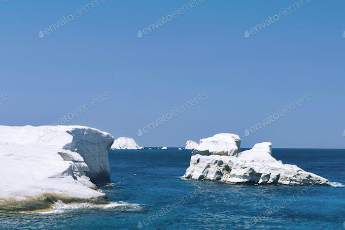 Milos Island, Sarakiniko Beach