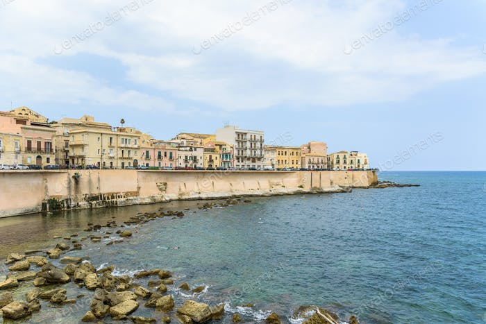 Waterfront of Ortygia Island in Syracuse