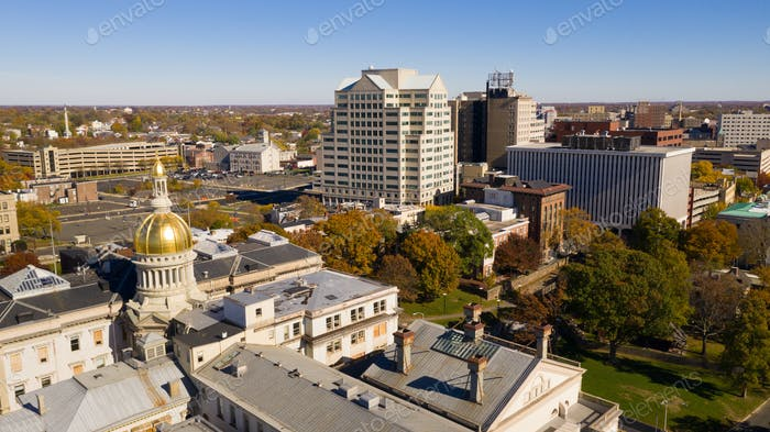 Urban Downtown City Skyline Trenton New Jersey State Capital