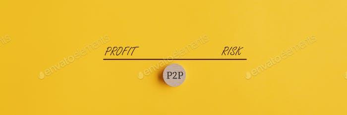 Pesar el riesgo y el beneficio de la inversión P2P