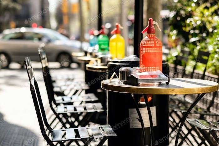 Outdoor cafe in Barcelona