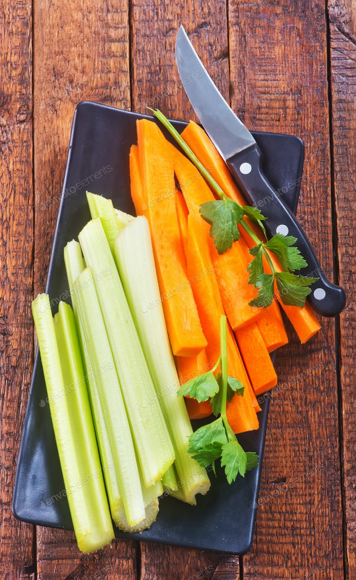 celery with carrot