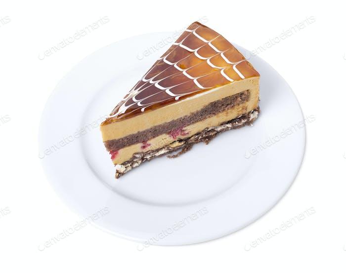 Delicious cappuccino pudding  sponge cake.