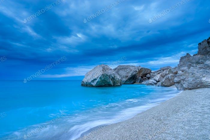 The famous Kathisma beach in Lefkada