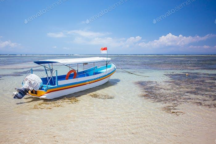 Sanur Beach Scene in Indonesia