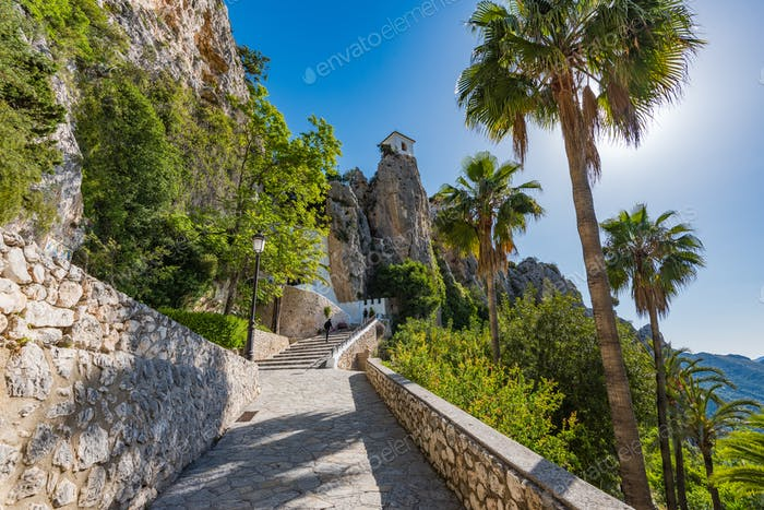 Schloss Guadalest in Alicante, Spanien