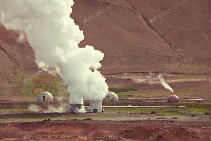 Estación geotérmica