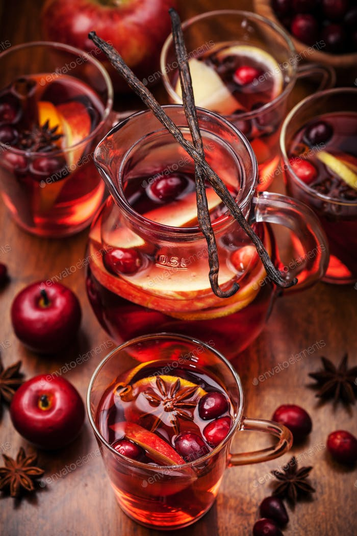 Hot punch for winter and Christmas