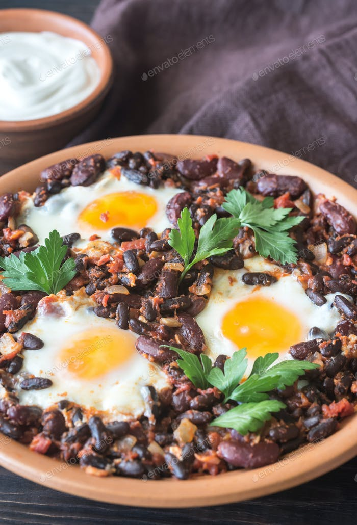 Bowl of chipotle bean chili