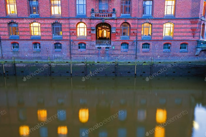 Detail of Hamburgs Speicherstadt