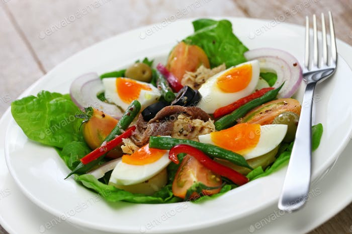 nicoise salad, french cuisine