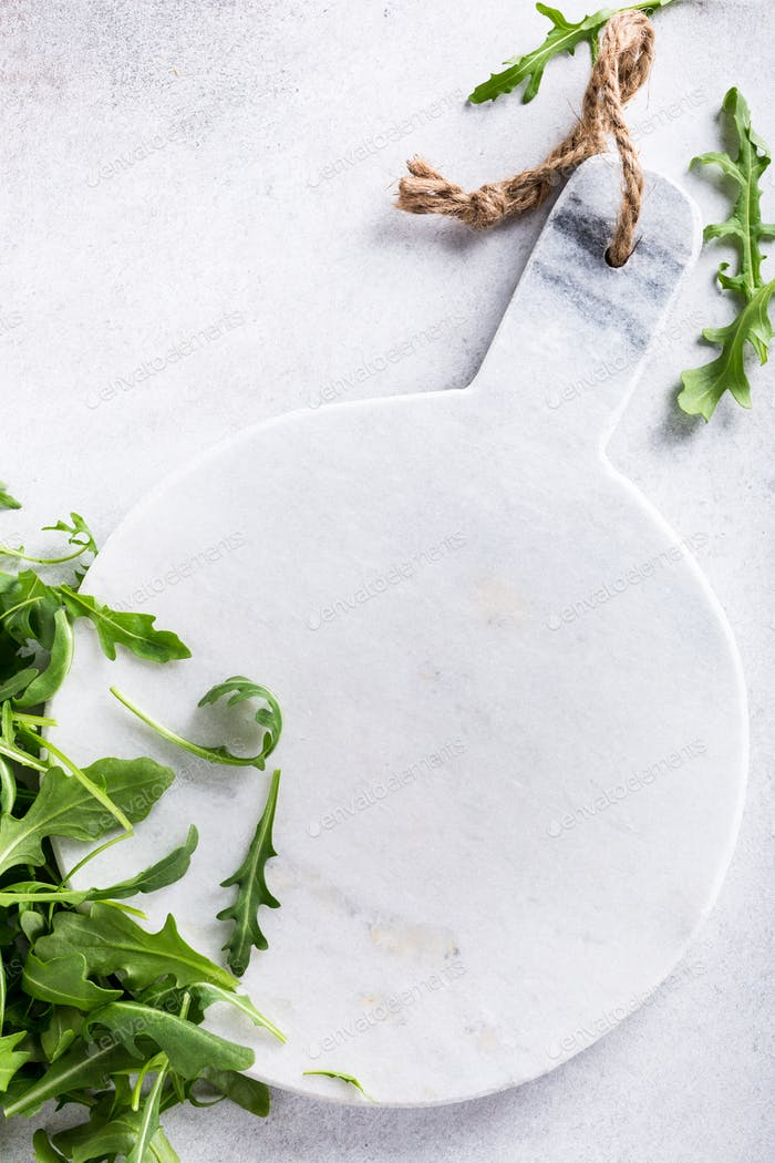 Background with green fresh rucola