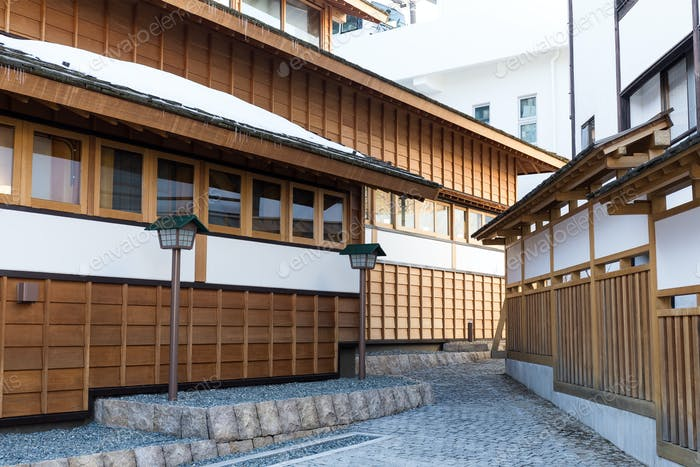 Traditional wooden building in Japan