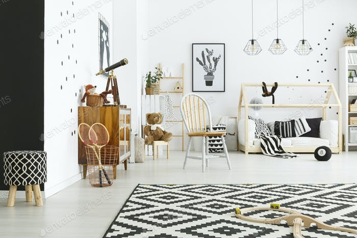 Scandi style child room