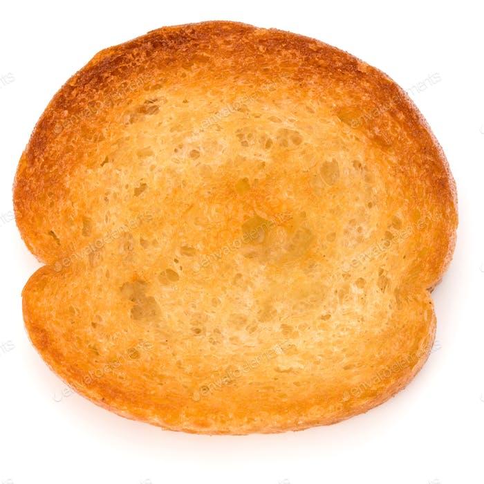 Crusty bread toast slice
