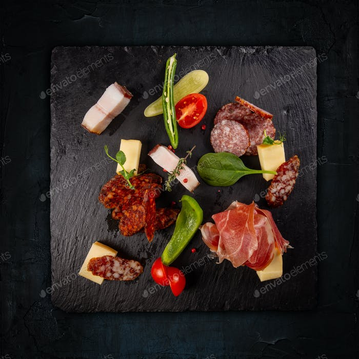 Variety of cold meats