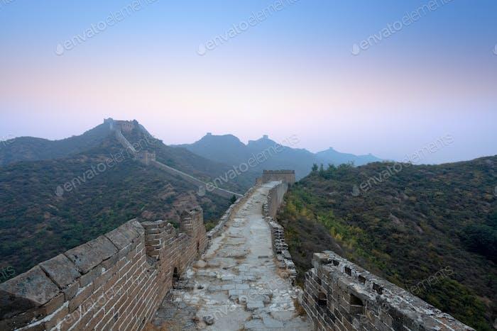 the great wall  in dawn