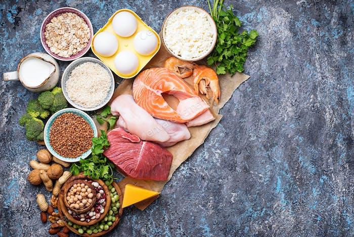 Proteinreiche gesunde Ernährung