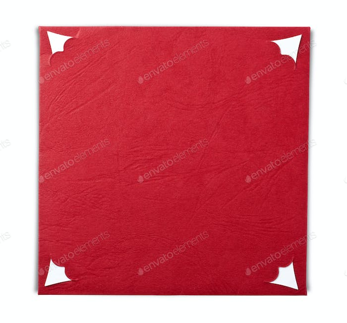 Blank red notecard
