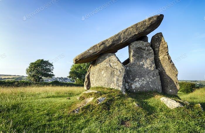 Trevethy zitiert ein Portal Dolmen in Cornwall