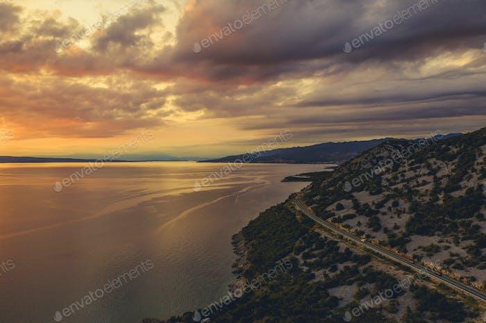 Mittelmeer und kroatische Küste