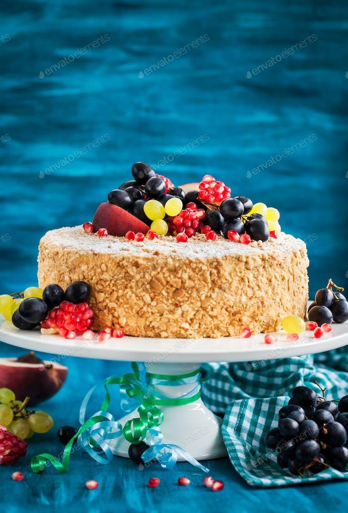 Delicious homemade honey cake