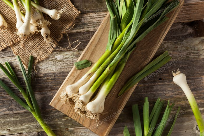 Raw Organic Spring Garlic