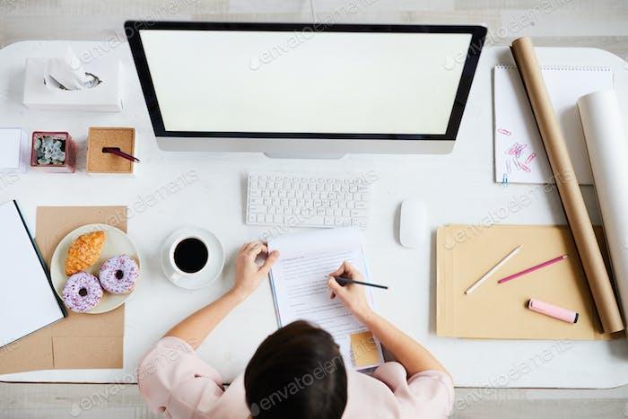 Buchhalter per Computer
