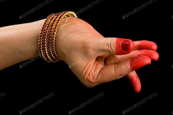 Bana hasta of indian dance Bharata Natyam
