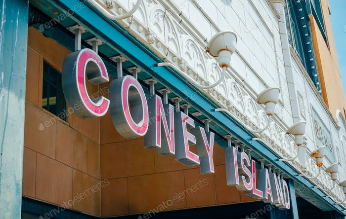 Coney Island entrance sign to subway