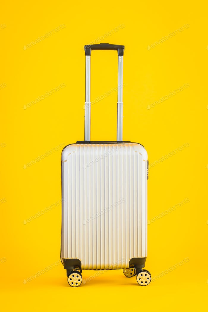 Gray color luggage or baggage bag use for transportation travel