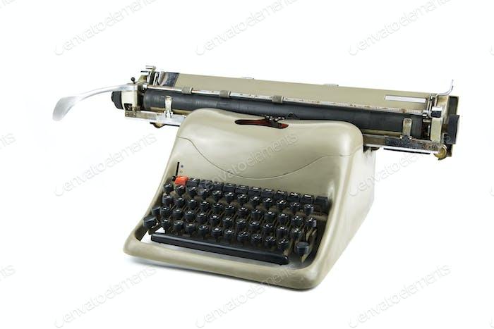 isoliertes Porträt einer alten Schreibmaschine