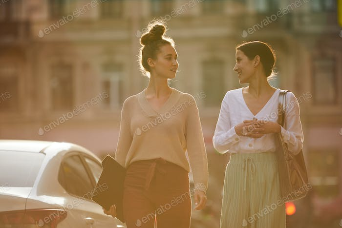 Girls on promenade