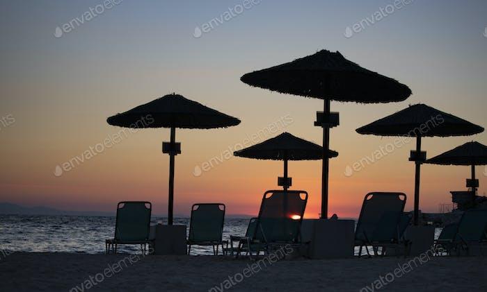 Sonnenaufgang am Strand.