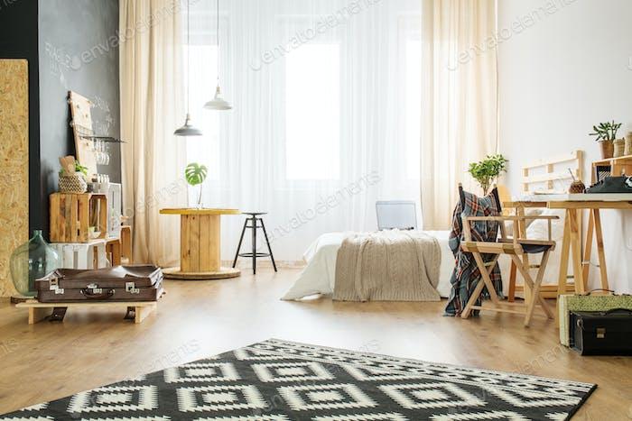 Upcycled studio apartment